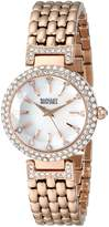 Badgley Mischka Women's BA/1344WMRG Swarovski Crystal-Accented -Tone Bracelet Watch