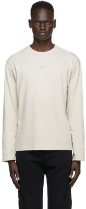 A-Cold-Wall* Beige Stencil Graphic Long Sleeve T-Shirt