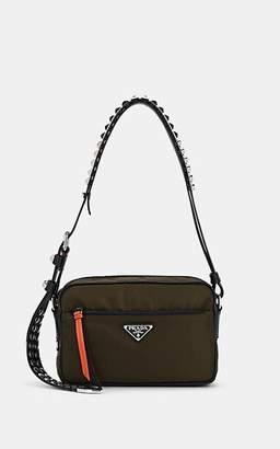 Prada Women's Vela Leather-Trimmed Camera Bag - Green
