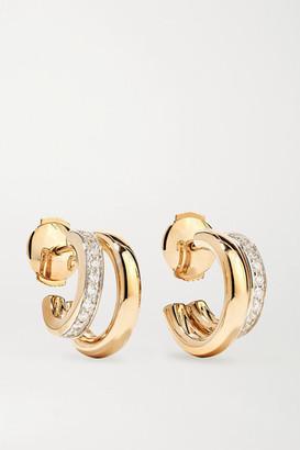 Pomellato 18-karat Rose Gold Diamond Hoop Earrings - one size