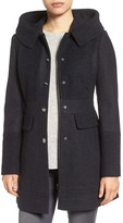 GUESS Women's Wool Blend Hooded Coat
