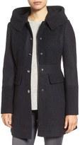 GUESS Wool Blend Hooded Coat