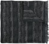 Lanvin striped animal print scarf