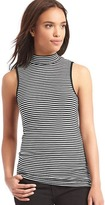 Gap Ribbed stripe mockneck tank