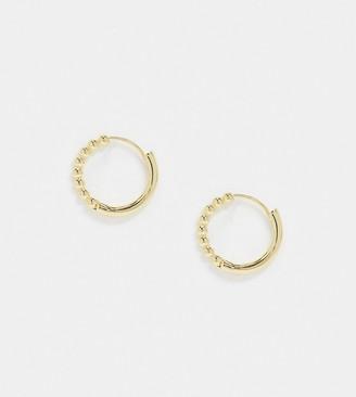 Shashi Ash ball hoop earrings in gold
