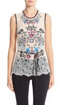 Yigal Azrouel Floral Embroidered Lace Top