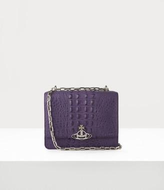Vivienne Westwood Debbie Medium Bag With Flap Purple