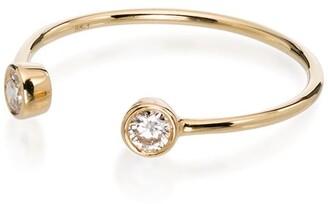 Rosa de la Cruz 18K yellow gold diamond ring