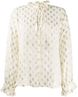 Etro Paisley-Embroidery Silk Shirt