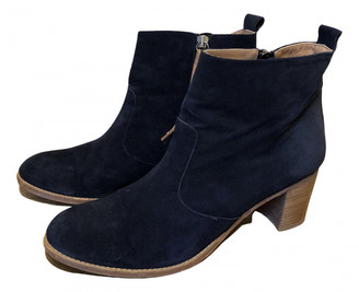 Toast Navy Suede Ankle boots