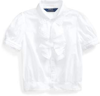 Ralph Lauren Ruffled Cotton Batiste Top