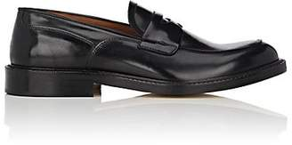 Barneys New York MEN'S BURNISHED LEATHER PENNY LOAFERS