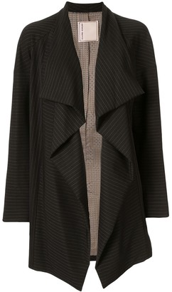 Antonio Marras Side Ruffle Striped Blazer