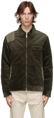 Golden Goose Green Corduroy and Suede Anselmo Jacket