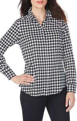 Foxcroft Ava Houndstooth Wrinkle-Free Shirt