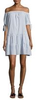 BCBGMAXAZRIA Cotton Lace Up Shift Dress