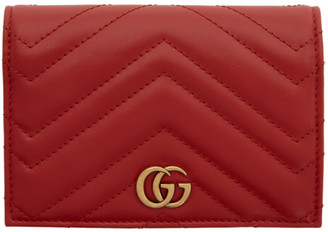 Gucci Red GG Marmont 2.0 Passport Holder