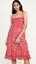 Farm Rio Red Pepper Midi Dress