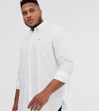 Tommy Hilfiger Big & Tall classic logo plain shirt in white