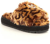 MICHAEL Michael Kors Girl's Faux Fur Grace Fay Slipper