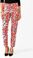 FOREVER 21 Essential Zipped Floral Capris