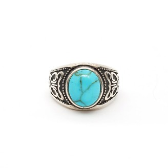 Serge Denimes Silver Turquoise Stone Ring