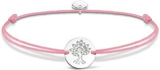 Thomas Sabo Women-Bracelet Little Secrets tree of life 925 Sterling silver pink LS071-401-9-L20v - Prime Day Newness