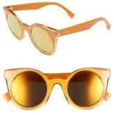 Fendi Women's 48Mm Cat Eye Sunglasses - Yellow