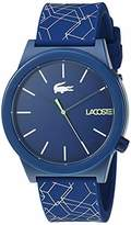 Lacoste Men's Motion Stainless Steel Quartz Watch with Silicone Strap