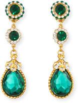 Jose & Maria Barrera Linear Crystal Drop Clip Earrings