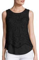 Generation Love Celine Layered Lace Tank Top