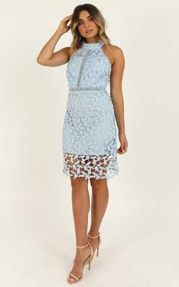 Showpo Swings and Slides dress in blue lace - 6 (XS) Hens Night
