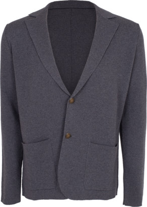 Eleventy Woven Two Button Sweater Jacket