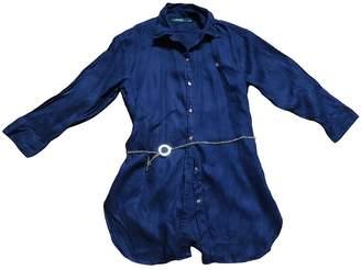 Lauren Ralph Lauren Blue Linen Top for Women