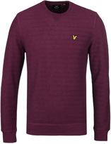 Lyle & Scott Claret Textured Herringbone Crew Neck Sweatshirt