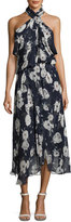 Camilla And Marc Lou Lou Sleeveless Floral Midi Cocktail Dress, Blue