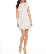 Vince Camuto Short Sleeves Lace Shift Dress