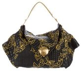 Versace Embroidered Quilted Leather Hobo w/ Tags