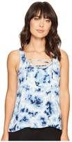 PJ Salvage Blue Batik Tank Top