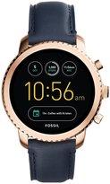 Fossil Q Explorist Gen 3 Leather-Strap Smart Watch