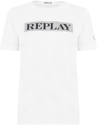 Replay Glitter Box T Shirt