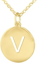 14K Yellow Gold-Plated Personalized Initial Pendant