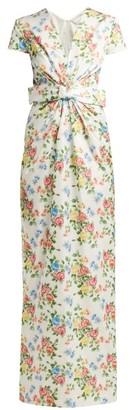 Emilia Wickstead Beatrice Floral-print Sateen Dress - Womens - Multi