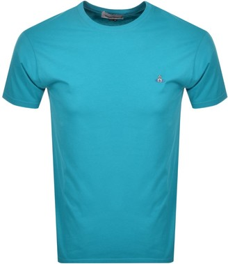 Vivienne Westwood Small Orb Logo T Shirt Blue