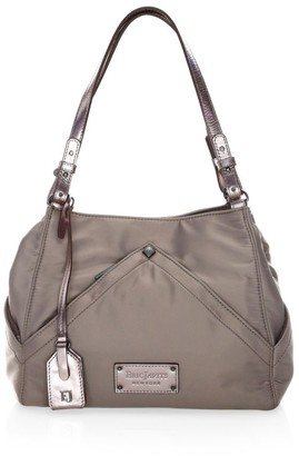 Eric Javits Peyton Microfiber & Leather Shoulder Bag