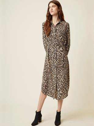 Great Plains Cara Shirt Dress In Leopard - 6