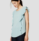 LOFT Mixed Media Flutter Top