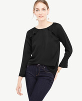 Ann Taylor Ruffle Long Sleeve Top