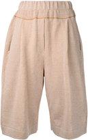 Boboutic - high-waisted shorts - women - Cotton/Linen/Flax/Polyamide - S