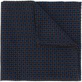 Lardini small squares print pocket square